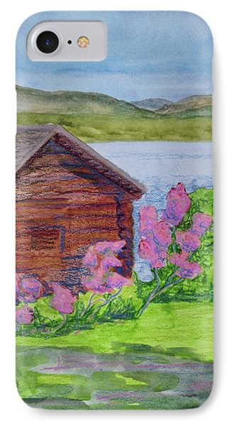 Mountain Laurel By The Cabin IPhone Case by Bethany Lee