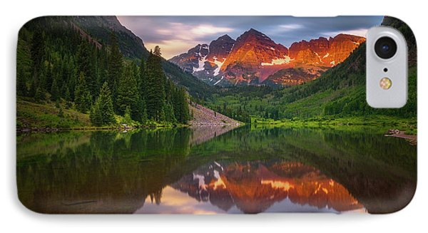 IPhone Case featuring the photograph Mountain Light Sunrise by Darren White
