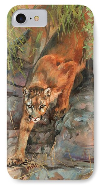 Mountain Lion 2 IPhone Case by David Stribbling