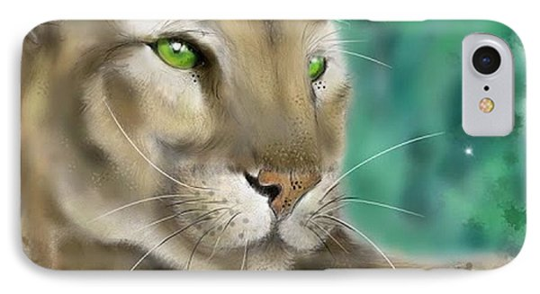 IPhone Case featuring the digital art Mountain Lion by Darren Cannell