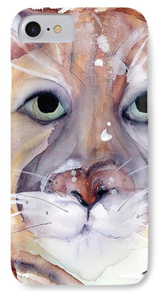 IPhone Case featuring the painting Mountain Lion by Dawn Derman