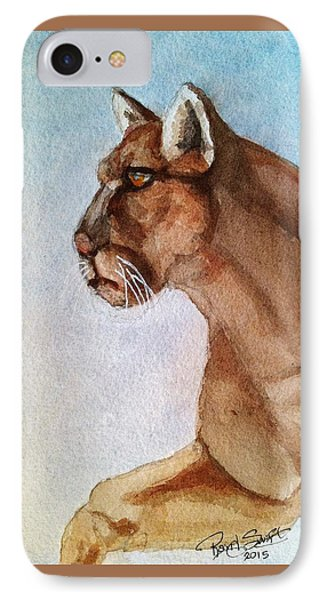 Mountain Lion IPhone Case by Rand Swift