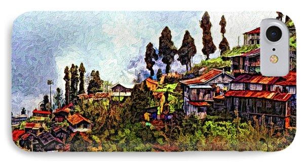 Mountain Living Impasto Phone Case by Steve Harrington