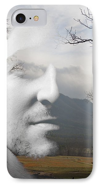 Mountain Man Phone Case by Christopher Gaston