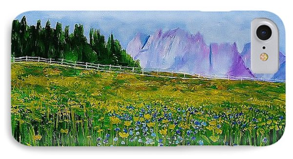 Mountain Meadow Wildflowers IPhone Case by Mike Caitham