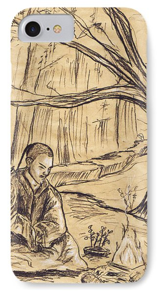 IPhone Case featuring the drawing Mountain Oasis by Shawna Rowe