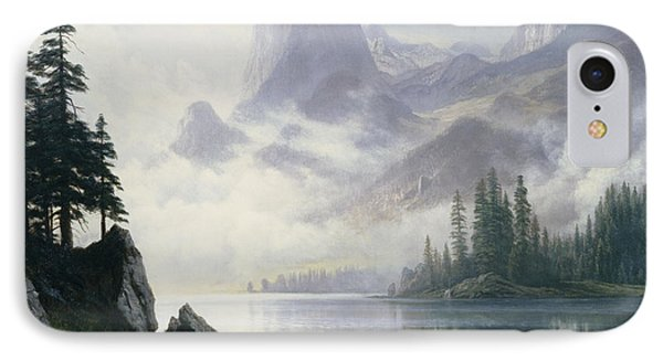 Mountain Out Of The Mist Phone Case by Albert Bierstadt