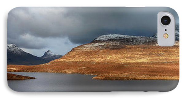 IPhone Case featuring the photograph Mountain Pano From Knockan Crag by Grant Glendinning