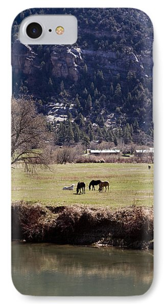 IPhone Case featuring the photograph Mountain Pasture Vertical by Lorraine Devon Wilke