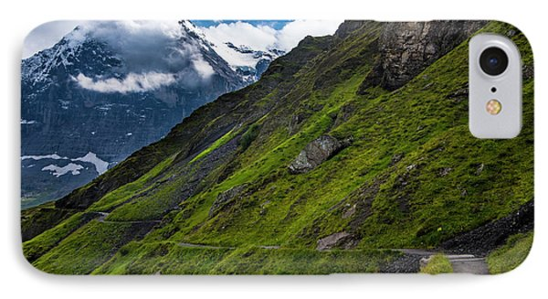 Mountain Path In The Swiss Alps IPhone Case