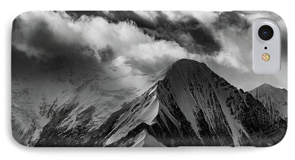 Mountain Peak In Black And White IPhone Case by Rick Berk
