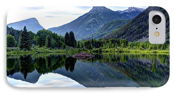 Elk Mountain Reflections IPhone Case by Jean Hutchison