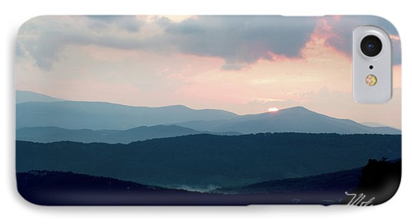 IPhone Case featuring the photograph Blue Ridge Mountain Sunset by Meta Gatschenberger
