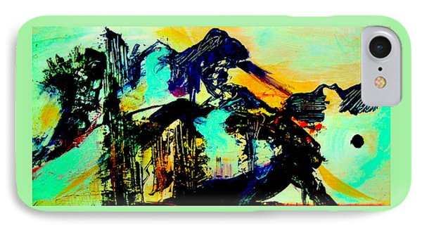 IPhone Case featuring the digital art Mountain Top Spot by Mary Schiros