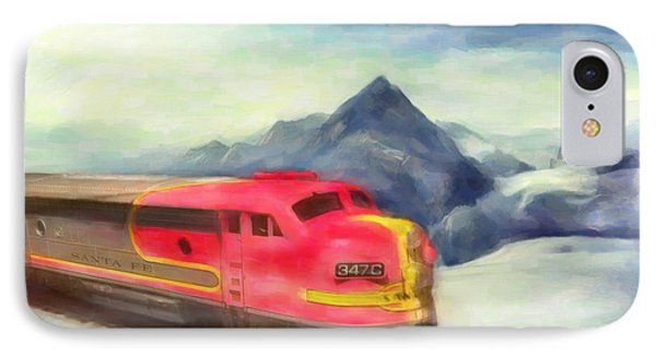 IPhone Case featuring the painting Mountain Train by Michael Cleere