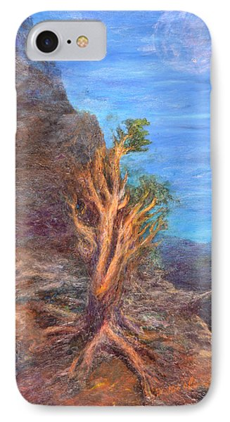 Mountain Tree With Moon IPhone Case