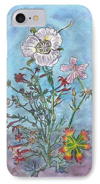 IPhone Case featuring the painting Mountain Wildflowers II by Dawn Senior-Trask