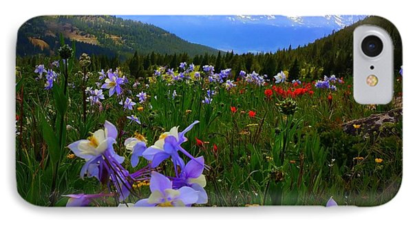 IPhone 7 Case featuring the photograph Mountain Wildflowers by Karen Shackles