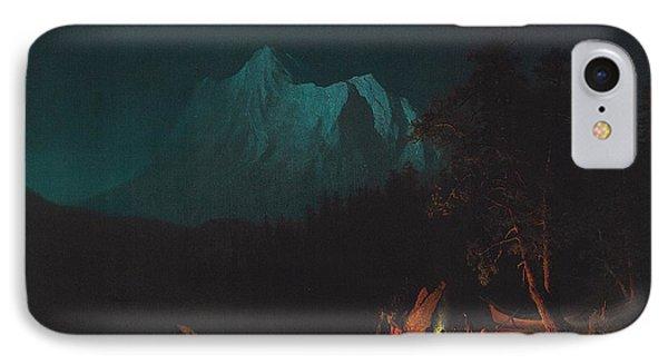 Mountainous Landscape By Moonlight IPhone Case
