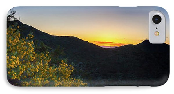 IPhone Case featuring the photograph Mountains At Sunset by Ed Cilley