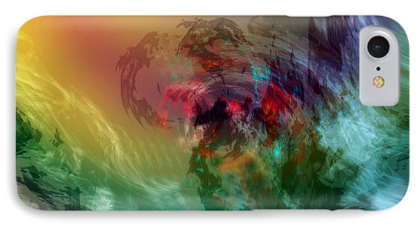 Mountains Crumble To The Sea Phone Case by Linda Sannuti