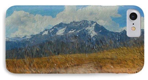 Mountains In Puru Phone Case by David Lane