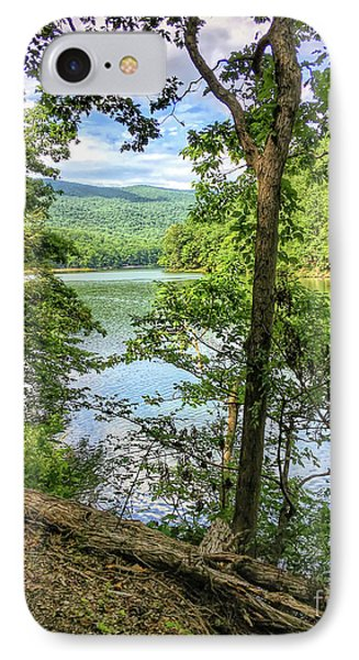 IPhone Case featuring the photograph Mountains, Lake And Trail by Kerri Farley