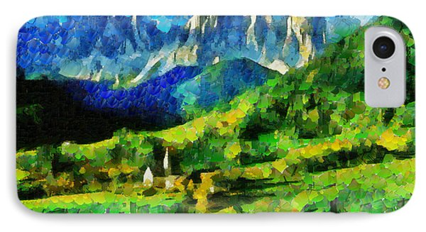 Mountains Paradise - Da IPhone Case by Leonardo Digenio