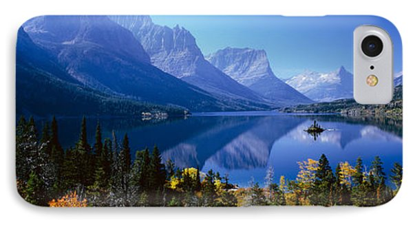 Mountains Reflected In Lake, Glacier IPhone Case