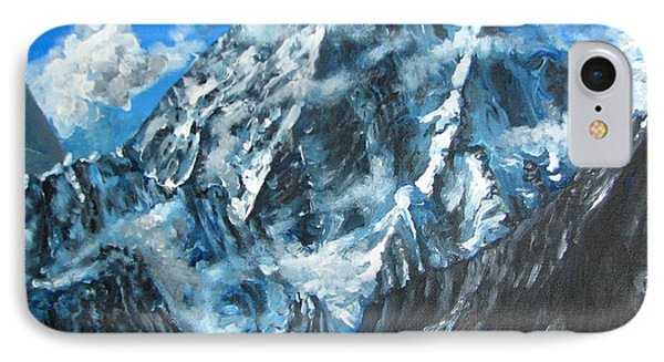 Mountains View Landscape Acrylic Painting Phone Case by Natalja Picugina