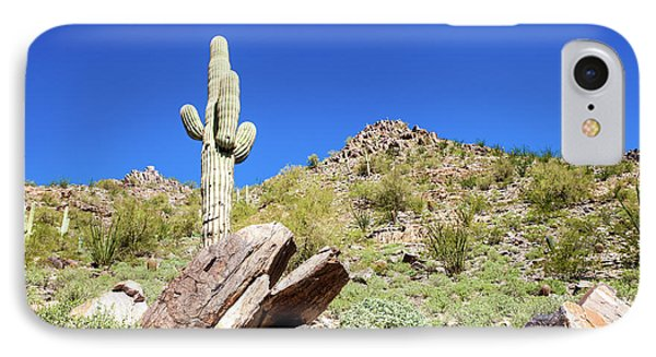 IPhone Case featuring the photograph Mountainside Cactus 2 by Ed Cilley