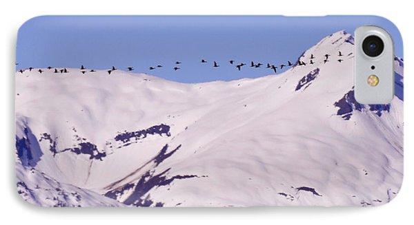 Mountaintop Geese II IPhone Case