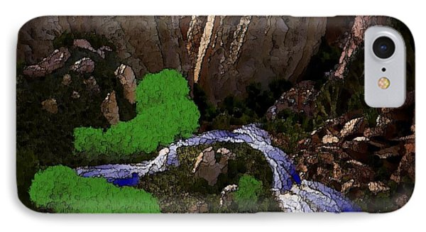 Mountine River IPhone Case by Dr Loifer Vladimir