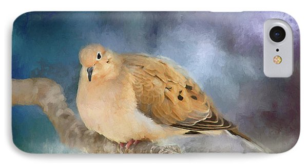 IPhone Case featuring the photograph Mourning Dove Of Winter by Darren Fisher