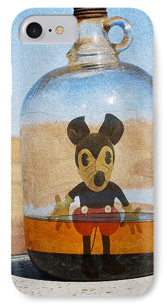 Mouse In A Bottle  IPhone Case by Jerry Cordeiro