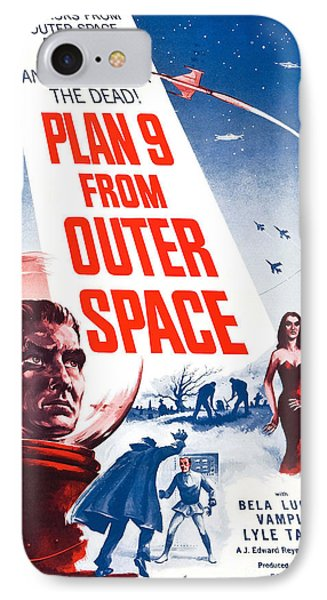 Movie Poster For Plan 9 From Outer Space  IPhone Case by Celestial Images