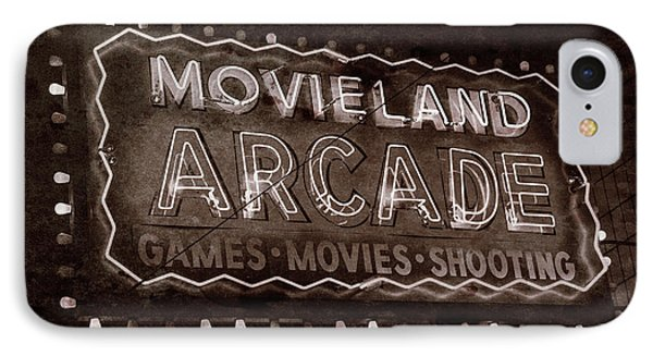 IPhone Case featuring the photograph Movieland Arcade - Gritty by Stephen Stookey