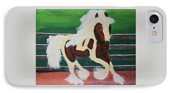 IPhone Case featuring the painting Moving Horse by Donald J Ryker III