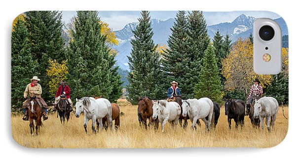 Moving The Herd IPhone Case by Jack Bell