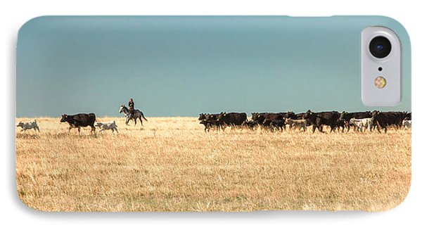 Moving The Herd IPhone Case by Todd Klassy