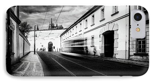 Street Tram IPhone Case by M G Whittingham