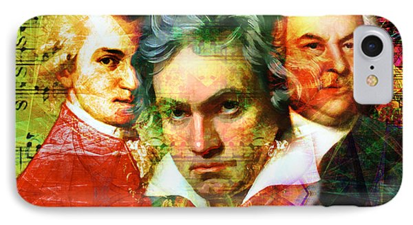 Mozart Beethoven Bach 20140128 IPhone Case by Home Decor