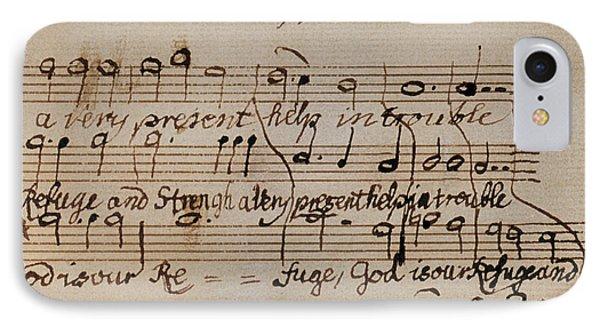 Mozart: Motet Manuscript IPhone Case