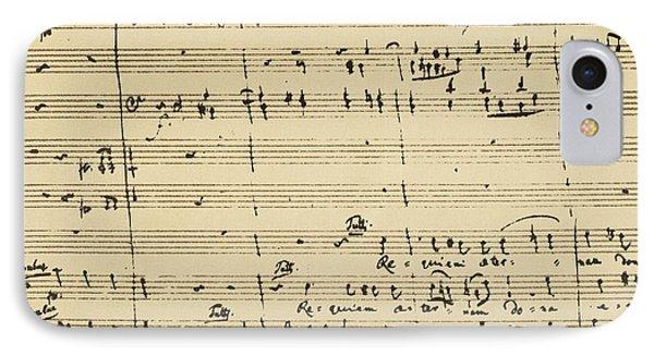 Mozart: Requiem Excerpt IPhone Case by Granger