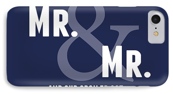 Mr And Mr And Cat IPhone Case by Linda Woods
