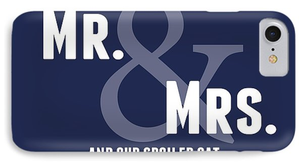 Mr And Mrs And Cat IPhone Case by Linda Woods