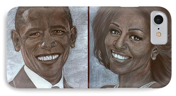 Mr And Mrs Obama IPhone Case by Tetiana Rudnevska