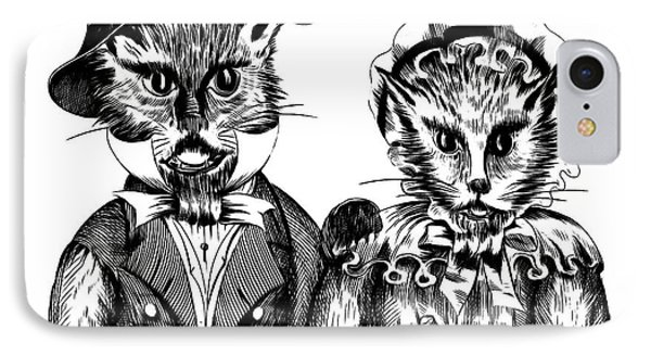 Mr. And Mrs. Pussy Cat IPhone Case