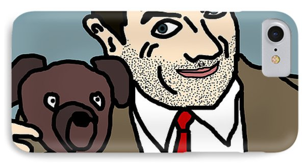Mr Bean And Teddy Phone Case by Jera Sky