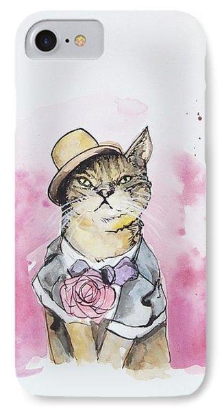 Mr Cat In Costume IPhone 7 Case by Venie Tee